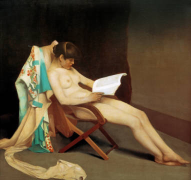 Kunstdruck, individuelle Kunstkarte: Théodore Roussel, The Reading Girl