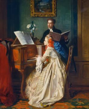 The Music Lesson of artist Jean Carolus as framed image