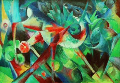 Bilder Blumengarten franz marc reh im blumengarten reproduction individual