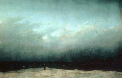 Fine Art Reproduction, individual art card: Caspar David Friedrich, The Monk by the Sea