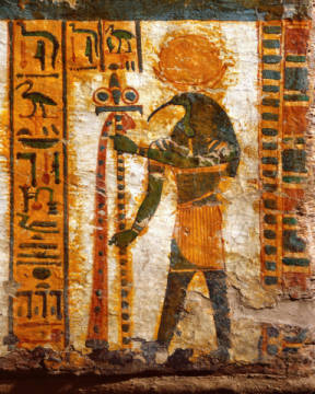 Fine Art Reproduction, individual art card: Ägyptische Malerei, Thoth / Egypt.Paint./ 21st Dynasty