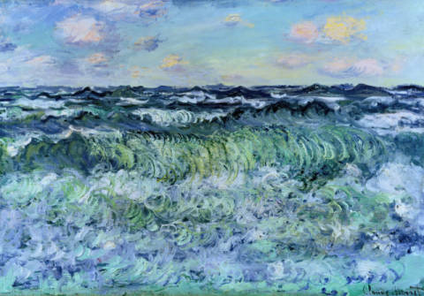 Marine (Etude de Mer) of artist Claude Monet as framed image