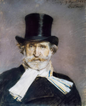 Fine Art Reproduction, individual art card: Giovanni Boldini, Verdi / Portrait by Boldini / 1886