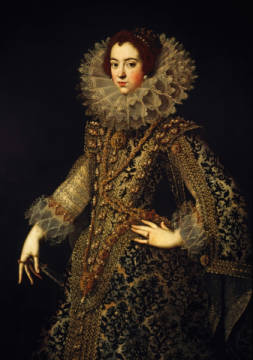 Fine Art Reproduction, individual art card: AKG Anonymous, Isabella of Bourbon / Ptg 17th century