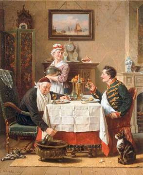 Fine Art Reproduction: Charles Meer Webb, The Long Lunch