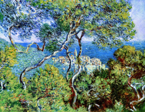 Bordighera of artist Claude Monet as framed image
