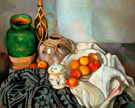 Nature morte of artist Paul Cézanne as framed image