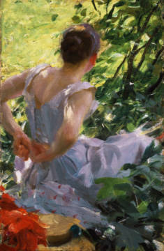 In the Woods of artist Anders Leonard Zorn as framed image