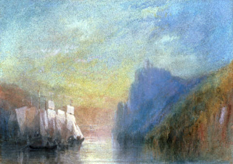 Kunstdruck, individuelle Kunstkarte: Joseph Mallord William Turner, On the Rhine