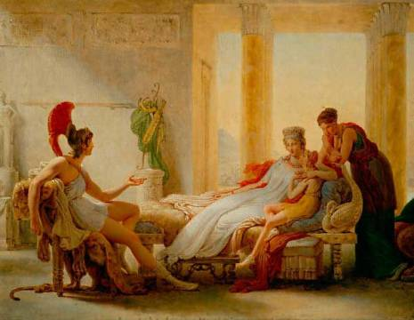 Fine Art Reproduction: Pierre-Narcisse Guérin, Aeneas and Dido,sketch for a larger oil.