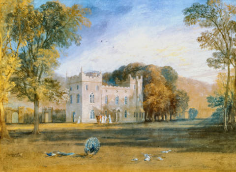 Kunstdruck, individuelle Kunstkarte: Joseph Mallord William Turner, Clontarf Castle, Co.Dublin