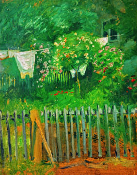 august macke w sche im garten in kandern. Black Bedroom Furniture Sets. Home Design Ideas