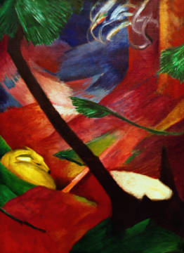 Fine Art Reproduction, individual art card: Franz Marc, Reh im Wald II