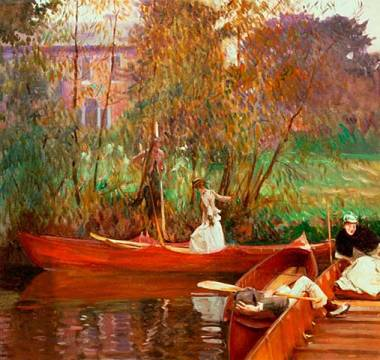 Kunstdruck: John Singer Sargent, A Boating Party