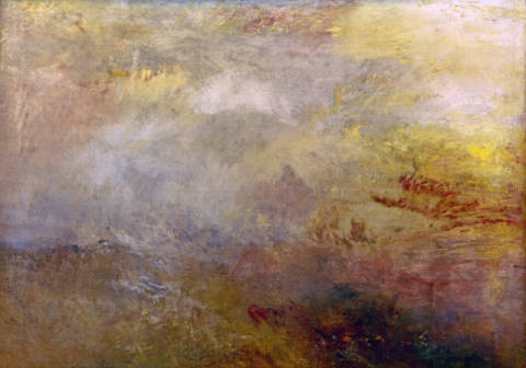 Kunstdruck, individuelle Kunstkarte: Joseph Mallord William Turner, Stormy Sea with Dolphins