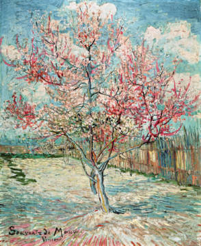 Peach Tree in Bloom (in Memory of Mauve) of artist Vincent van Gogh as framed image