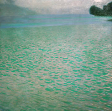 Fine Art Reproduction, individual art card: Gustav Klimt, Am Attersee (On Attersee)