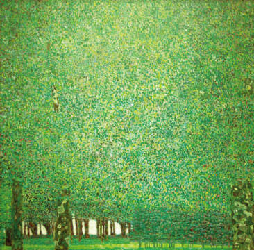 Park of artist Gustav Klimt as framed image