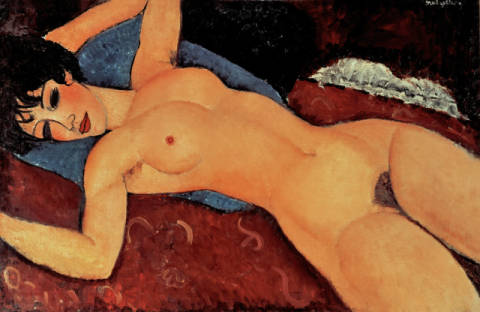 Fine Art Reproduction, individual art card: Amedeo Modigliani, Red Nude