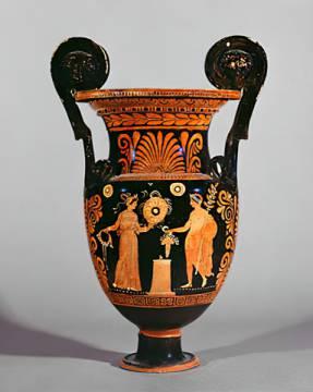vasenmalerei dionysos oder dionysosopfer griechisch. Black Bedroom Furniture Sets. Home Design Ideas