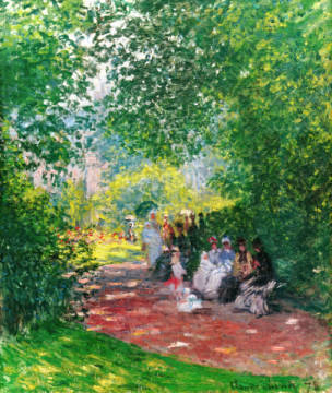 Au Parc Monceau of artist Claude Monet as framed image