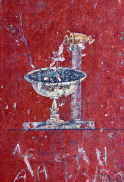 Fine Art Reproduction, individual art card: Pompeji, Pompeii / Fountain / Mural / Photo