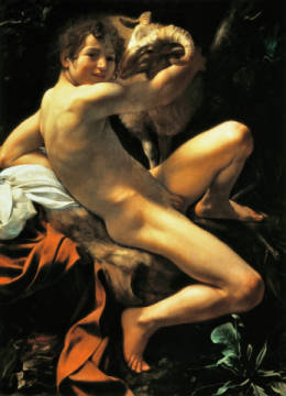 Fine Art Reproduction, individual art card: Michelangelo Merisi da Caravaggio, John the Baptist