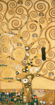Tree of Life, middle panel of artist Gustav Klimt as framed image