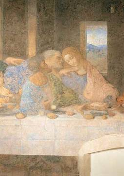 The Last Supper of artist Leonardo da Vinci as framed image