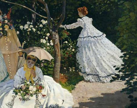 Claude Monet: Femmes au jardin. Kunstdruck, Leinwandbild, Gerahmtes Bild