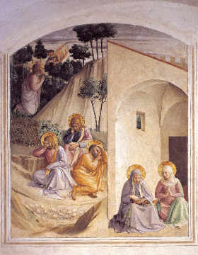 Christ at the Mount of Olives of artist Fra Angelico as framed image