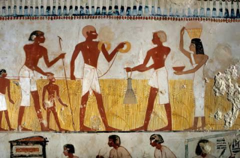 ägyptische Malerei