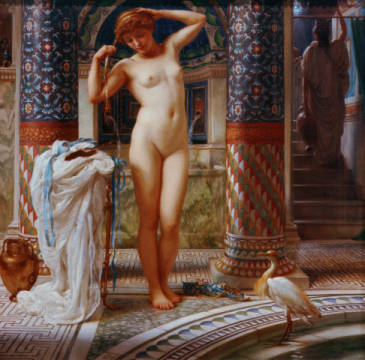 Diadumene of artist Sir Edward John Poynter as framed image