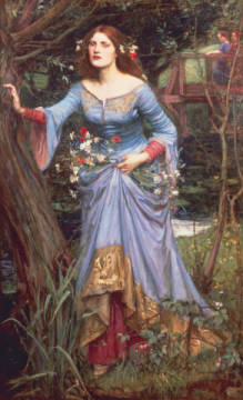 Kunstdruck, individuelle Kunstkarte: John William Waterhouse, Ophelia