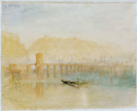 Kunstdruck: Joseph Mallord William Turner, Moselbrücke in Koblenz
