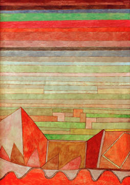 View of the Fertile Country of artist Paul Klee as framed image