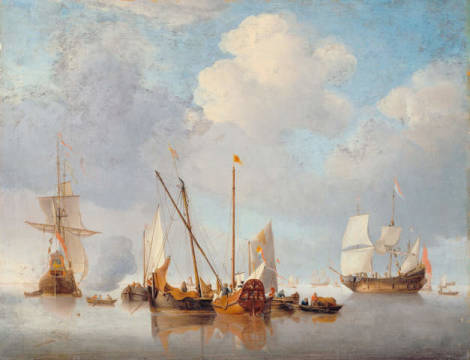 Fine Art Reproduction: Willem van de Velde, Eine Flaute