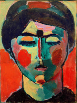Fine Art Reproduction, individual art card: Alexej von Jawlenski, Woman's head, c.1917