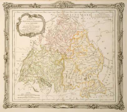 Brion Landkarte Bayern Franken Schwaben 1766 Kunstdruck