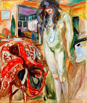 Fine Art Reproduction: Edvard Munch, Female Nude on Wicker Chair