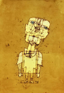 Ghost of a Genius of artist Paul Klee as framed image
