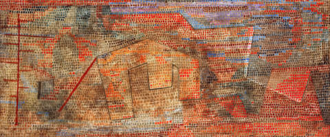 Fine Art Reproduction, individual art card: Paul Klee, Softened Hardness