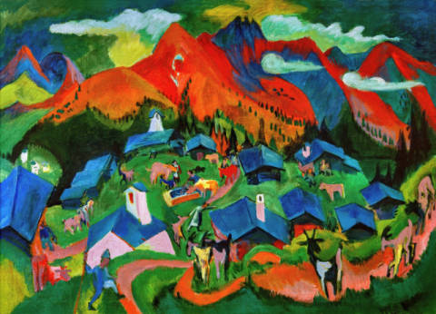 Fine Art Reproduction, individual art card: Ernst-Ludwig Kirchner, Return of the animals, Stafelalp