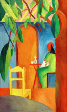 Turkish Café II of artist August Macke as framed image