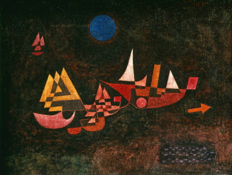 Ships setting Sail II of artist Paul Klee as framed image