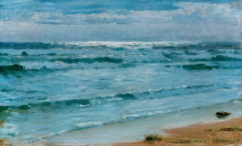 Fine Art Reproduction, individual art card: Peter Severin Krøyer, Seestück. Skagen