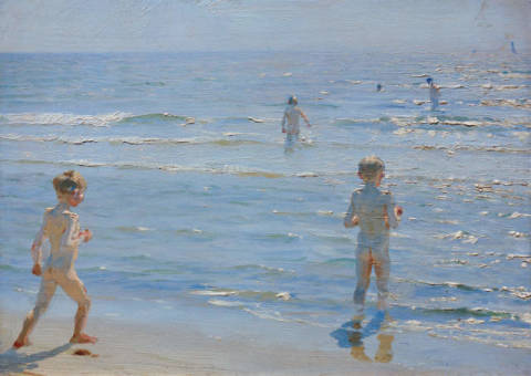 Fine Art Reproduction: Peter Severin Kr�yer, Boys bathing