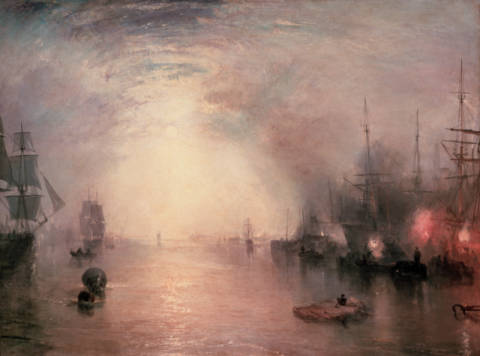 Kunstdruck, individuelle Kunstkarte: Joseph Mallord William Turner, Keelmen Heaving in Coals by Moonlight