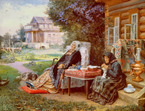Maximow: Alles gehört der Vergangenheit. Kunstdruck