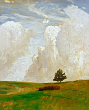 Cloud mountains of artist Otto Modersohn as framed image